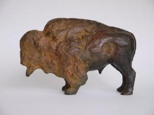 bronzen bizon, 14 cm.