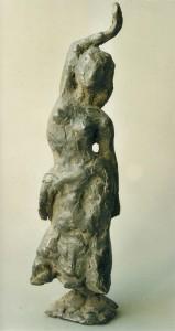 Buikdanseres, brons 12 cm.