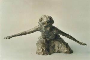Danseres, brons 10 cm.