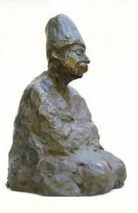 Bronzen derwisj, 17 cm.